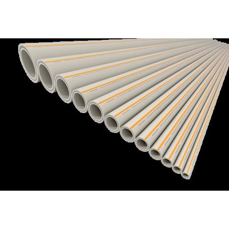 Труба полипропиленовая со стекловолокном FV-Plast PP-RCT FASER HOT