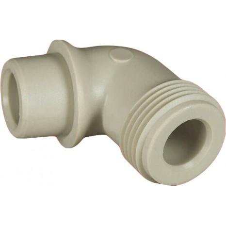 Пластиковый выпускной угол с резьбой FV-Plast