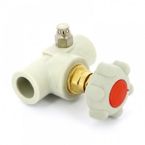 Вентиль прямоточный пластиковый с выпускным клапаном FV-Plast